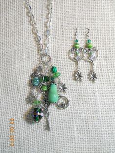 Celtic Irish Long Charm Necklace and Earring Set by LamplightGifts, $21.50