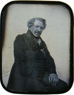Louis Daguerre, inventor of one of the first successful photographic processes: Nov. 1787 - Photo: E. Louis Daguerre, Vintage Pictures, Vintage Images, Today In History, History Of Photography, People Of Interest, Great Photographers, Old Master, French Artists