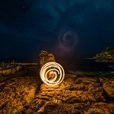 This is my personal favourite from thefirst ever Lightpaint Lab Photowalk. Funny Ghosting Flare with the 14-24mmm Nikkor. I kind of like it. Great job by KevTwirl on the Fire.  Make sure you read the roundup of the event here:  http://lightpaintlab.com/sydney-lightpainting-photowalk-round-up/   #Fire #LightPaintLab    #Photowalk #Sydney  #igerssydney