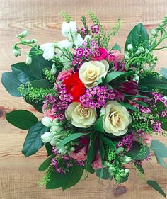 To keep flowers lasting longer, make sure the water in the vase is high and clear (bacteria causes bouquets to die early) and give the stems a fresh cut every other day or so, at an angle to increase drinking surface area! As your bouquet fades, the flowers inside it have different life spans—don't toss the whole thing out at the first sign of wilting, just pull the blooms that are past their prime and keep creating smaller and smaller arrangements with what is left.