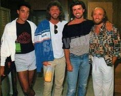 Barry and Maurice with Wham