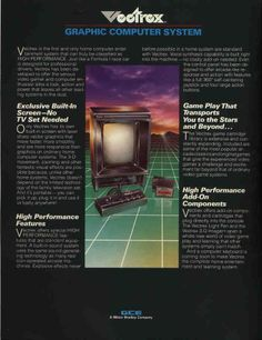 Vectrex Graphic Computer System brochure - Fonts In Use Vintage Video Games, Vintage Games, Light Grid, 80s Design, Home Computer, Retro Images, Best Ads, Video Game Console, Arcade Games