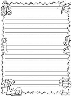 freebie writing paper lined with drawing frame click on the green