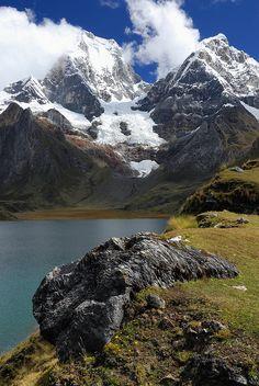 Lake Carhuacocha, Cordillera Huayhuash, Peru