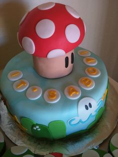 """It's a boy!"" Super Mario baby shower cake by d.lumanlan, via Flickr"