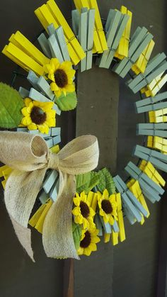 clothespins wreath