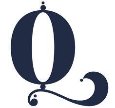 Graphic design Typographic Alphabet Letters Q
