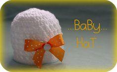 krajková s mašlí Baby Hats, Crochet Hats, Knitting Hats
