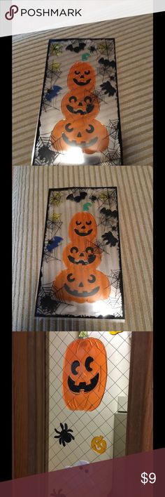 Sticky Halloween decorations Halloween decorations. They are new still between the plastic sheets to keep sticky. Never used. The picture with them on the window is from some door I saw when I was at work and realized they were what I had. Other