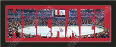 PERSONALIZE YOUR NAME with a framed small Montreal Canadiens stadium panoramic behind your name, single matted in team colors to 27 x 9.5 inches. $89.99  @ ArtandMore.com
