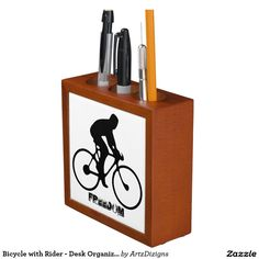 Bicycle with Rider - Desk Organizer