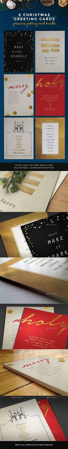 6 Christmas Greeting Cards Template PSD | #christmascards #christmas | Buy and Download: http://graphicriver.net/item/6-christmas-greeting-cards/9409462?WT.oss_phrase=&WT.oss_rank=74&WT.z_author=lavie1blonde&WT.ac=search_thumb&ref=ksioks