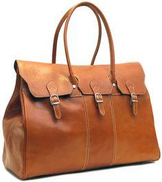 Venezia Italian Leather Travel Tote Bag - Fenzo Italian Bags