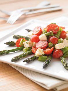 Grilled Asparagus with Tomato & Mozzarella Salad