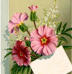 Vintage Floral Bouquet Label!