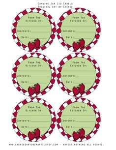 Canning jar lid labels