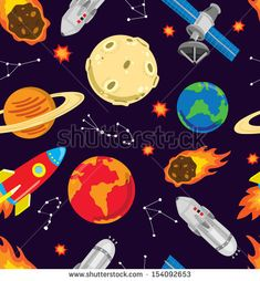 space background  by mhatzapa, via ShutterStock