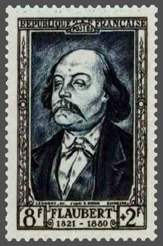 Resultado de imagem para selo de Gustave Flaubert