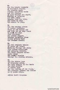 Typewriter Series #349by Tyler Knott Gregson