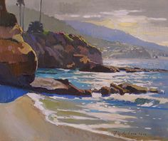 Laguna Morning Glow by Mark Fehlman Oil ~ 20 x 24