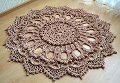 "Потрясающий ковер по схеме салфетки  ""Splendid"" - Crochet Modnoe Vyazanie"