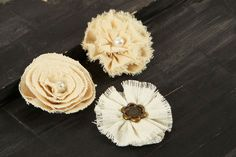 NEW  Fabric Flowers   AU Naturale E  562687   by isakayboutique, $4.99