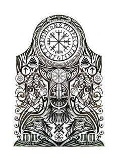 Viking tattoo meaning: discover the secrets of Nordic mythology . - Viking Tattoo Meaning: Discover The Secrets Of Nordic Mythology Viking Tattoo Templates nordic myth - Viking Tattoo Sleeve, Viking Tattoo Symbol, Norse Tattoo, Viking Tattoo Design, Sleeve Tattoos, Armor Tattoo, Inca Tattoo, Tattoo Symbols, Maori Tattoos