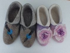 Slippers for Jo and Mark by FeltSoapGood
