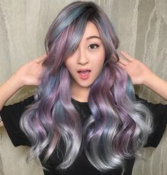One of my favorite looks I did on my how many hours of sleep do you HairBesties get a day? I feel like I am not getting enough!😩 and yes her hair is tied into two low pony tails in the back Guy Tang, Yellow Hair, Purple Hair, My Hairstyle, Cool Hairstyles, Coachella Hair, Ombre Wigs, Beautiful Hair Color, Fantasy Hair