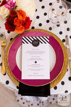Bayside Bride Social Media Feature: Kate Spade is known for creating bold and bright patterns that are chic and modern. I love translating this inspiration for my clients. Photo Credit: Procopio Photography