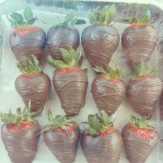 Chocolate covered strawberries I made