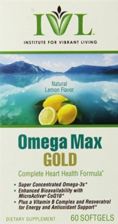 Institute For Vibrant Living Omega Max Gold Softgels 60 Count >>> You can get additional details at the image link.  This link participates in Amazon Service LLC Associates Program, a program designed to let participant earn advertising fees by advertising and linking to Amazon.com.