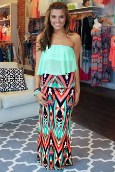 Unique Printed Maxi Skirt | uoionline.com: Women's Clothing Boutique