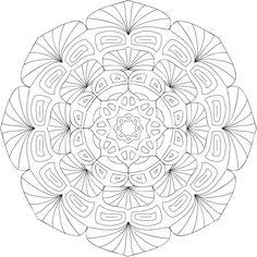 Magical Thinking Mandala Coloring Page By Angela R. Detailed Coloring Pages, Pattern Coloring Pages, Mandala Coloring Pages, Coloring Pages To Print, Coloring Book Pages, Mandalas Painting, Mandala Artwork, Printable Coloring Sheets, Dot Work