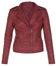 WOMEN'S LEATHER JACKET, WOMENS MAROON COLOR LEATHER JACKET,