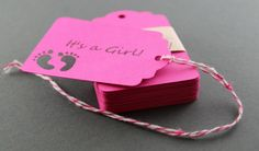 Baby Girl Shower Tags Set of 25 Baby Shower by ThePaperMedley, $6.00