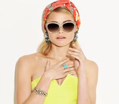 Bring out your holiday glow with bright and punchy accessories.