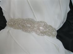 Rhinestone Crystal Sash Bridal Belt Bridesmaid Accessory by ctroum, $45.00
