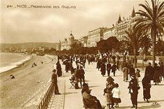 Old Postcard, France, Nice, Promenade des Anglais