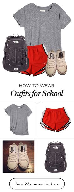 """""""School...."""" by therealprep13 on Polyvore featuring NIKE, Converse and The North Face"""