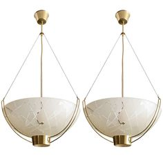 Pair of Scandinavian Pendants by Bo Notini | From a unique collection of antique and modern chandeliers and pendants  at http://www.1stdibs.com/furniture/lighting/chandeliers-pendant-lights/