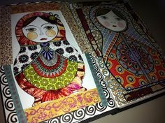 Penny Lane Ink: Russian Doll Journal Pages