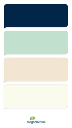 Navy, Celadon, Champagne, and Ivory Wedding Color Palette - custom color palette created at MagnetStreet.com