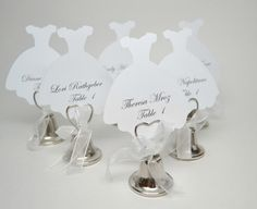 Wedding Dress Place Card Bridal Shower Place by MoreFriendsAndCo