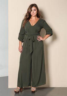 Plus Size Clothing | Plus Size Minimalist Wide Legged Jumpsuit | Debshops