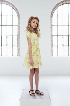 @Pale Cloud spring summer 2014 yellow drew dress. #yellow #palecloud #SS14 #spring #summer #springsummer2014 #childrens #kids #childrenswear #kidswear #kidsfashion #girls