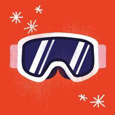 Snowboard icon illustration