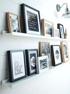 deco cadres photos mur messages personnels decoration murale avec cadre photo