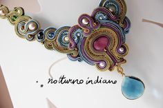 soutache necklace with abalone freshwater di notturnoindiano