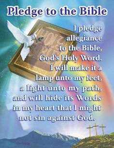 Pledge to the Bible.  Vacation Bible School memories.